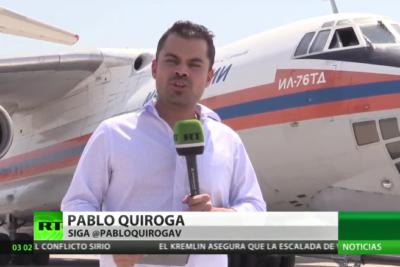 VIDEO  Así cubre la televisión rusa el combate del avión Ilyushin IL-76 contra los incendios en Chile