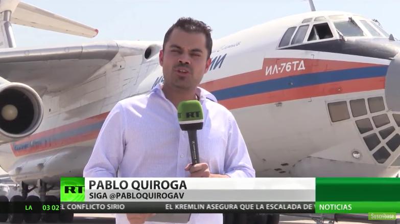 VIDEO |Así cubre la televisión rusa el combate del avión Ilyushin IL-76 contra los incendios en Chile
