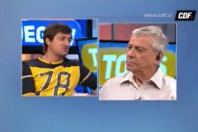 """VIDEO  Cara a cara de Nico Peric y Caco Villalta en CDF:  """"¿Te crees el Mesías del fútbol chileno?"""""""