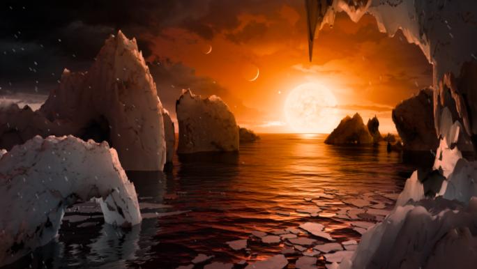 NASA descubre 7 planetas que podrían albergar vida y tendrían agua líquida
