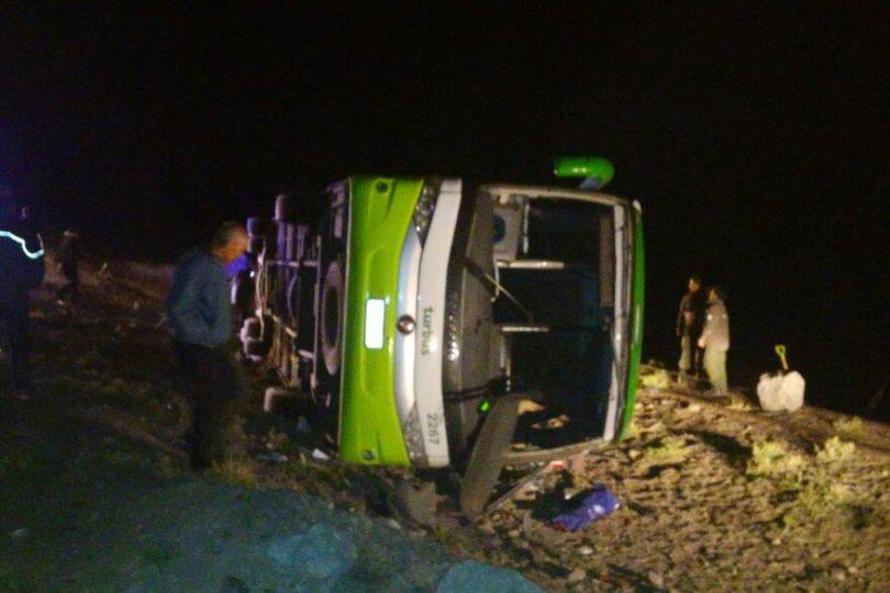 19 personas murieron en accidente de bus que viajaba de Argentina a Chile