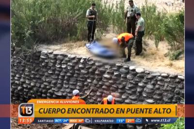 Carabineros encuentra cadáver en la ribera del Río Maipo