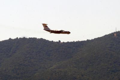 IIyushin vuela a Parral a combatir nuevo incendio forestal