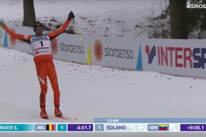 VIDEO   El peor de la historia: No conocía la nieve y participó en mundial de esquí