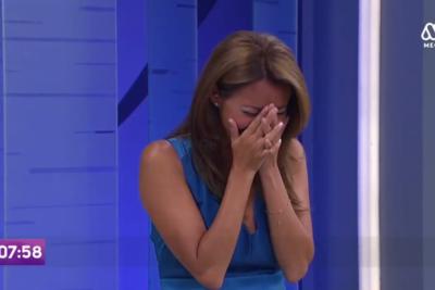 VIDEO |Conductora de Mega sufre incontrolable ataque de risa en vivo cuando presentaban el tiempo