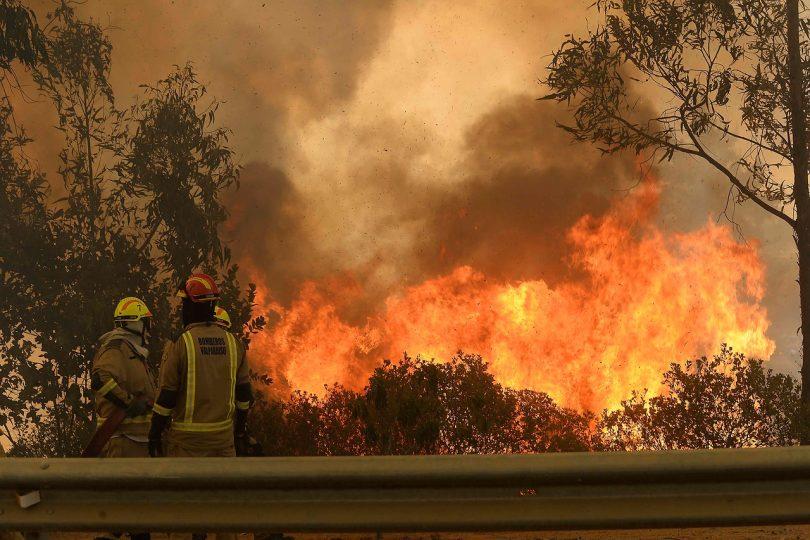 Reabren ruta Las Palmas tras control parcial de nuevo incendio en Valparaíso