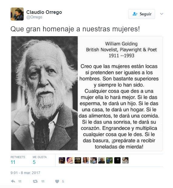 Claudio Orrego Saluda A La Mujer Con El Mensaje Más
