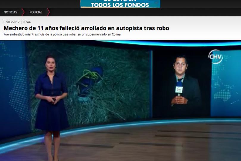 """""""Mechero de 11 años muere tras robo"""": la nota que Chilevisión tuvo que borrar"""