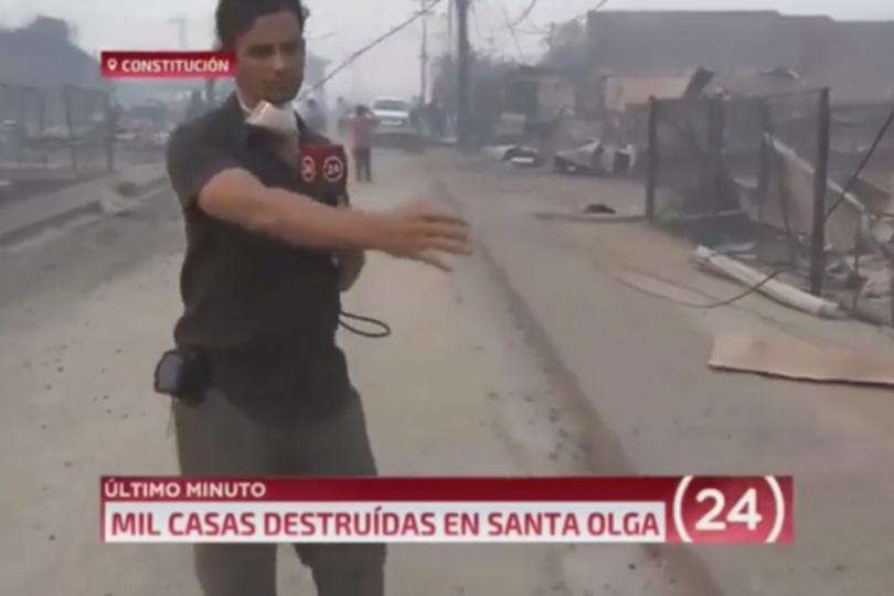 Cobertura de Gonzalo Ramírez en los incendios forestales vuelve a ser noticas dos meses después