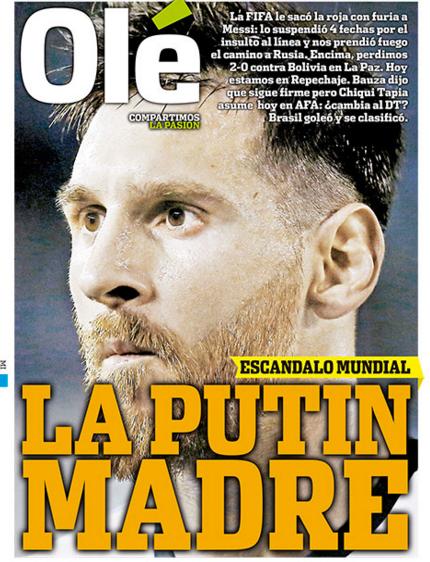 la 250 ltima portada diario argentino ol 233 es para