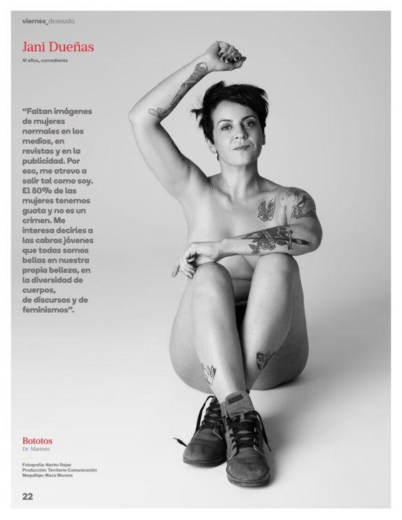 Jani Dueñas posó desnuda para una revista por un potente motivo - Imagen 1