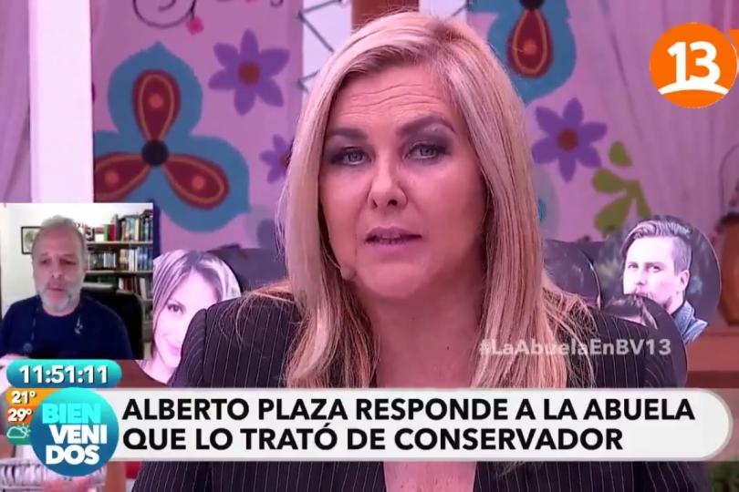 """Así fue el tenso encontrón en vivo y en directo entre Alberto Plaza y Pamela  Jiles: """"¡No soy facho!"""""""