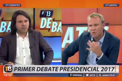 """VIDEO  Felipe Kast dejó a Mayol con espasmos en debate: """"Eres hijo de alguien que trabajó para la dictadura"""""""