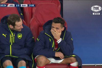 VIDEO | Los cuestionamientos en Inglaterra a Alexis Sánchez por su reacción tras gol de Vidal