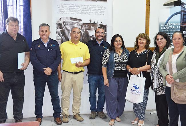 Organizaciones sociales de Quintero reciben fondos concursables para proyectos