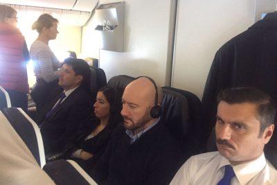 Cuatro frases de la impensada entrevista que dio Rafael Garay en el avión rumbo a Chile