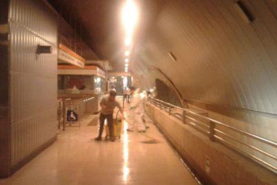 Restablecen servicio de Metro en L2 tras rotura de matriz de agua