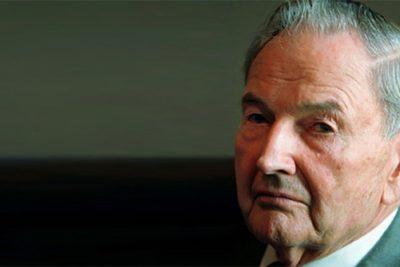 VIDEO |Murió a los 101 años: el día en que un chileno funó al multimillonario David Rockefeller