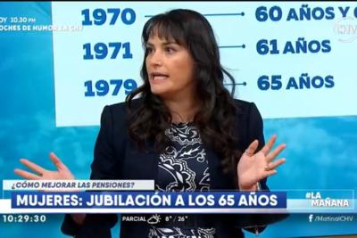 VIDEO | El video de la economista defendiendo a las AFP en el matinal de CHV que todos comentan
