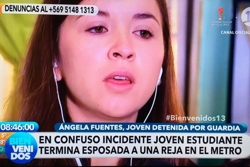 """Joven esposada en Metro asegura que fue """"secuestrada"""": """"No tienen el derecho a pasar a llevar mi dignidad"""""""