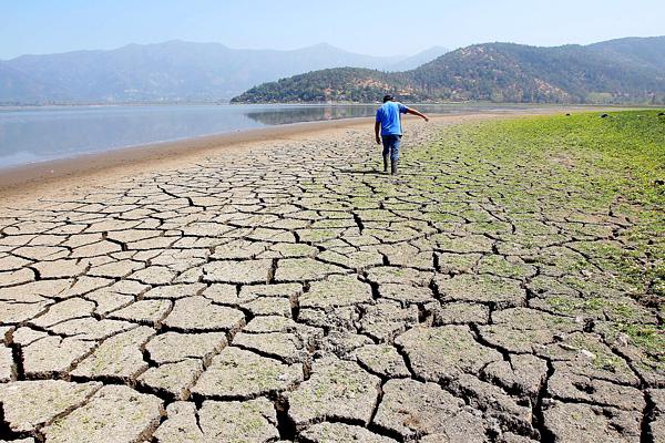Desastre ecológico: laguna Aculeo tiene menos de un metro de profundidad