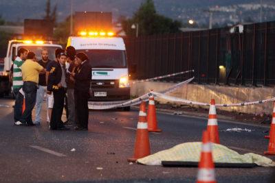 Hombre murió decapitado tras protagonizar accidente en autopista Vespucio Sur