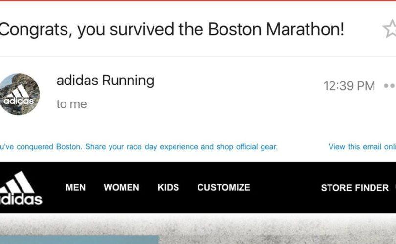 FOTO |Desubicado mensaje de Adidas sobre la Maratón de Boston genera duro debate en EE.UU.