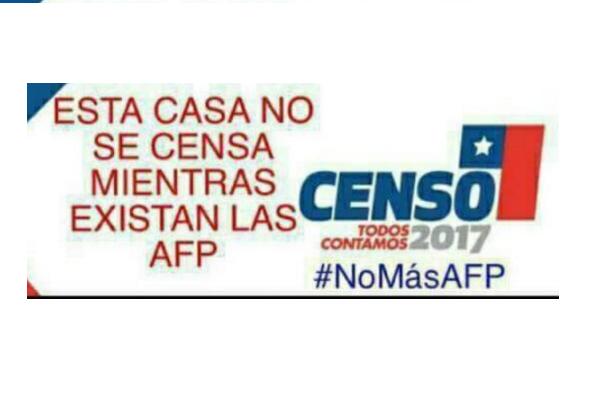 """""""No al Censo mientras existan las AFP"""": chilenos se superan todos los días con absurda campaña"""
