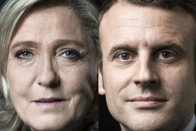 Macron y LePen disputarían la segunda vuelta de las elecciones presidenciales en Francia