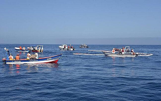 Pescadores de Horcón y Ventanas realizan simulacro de emergencia ambiental