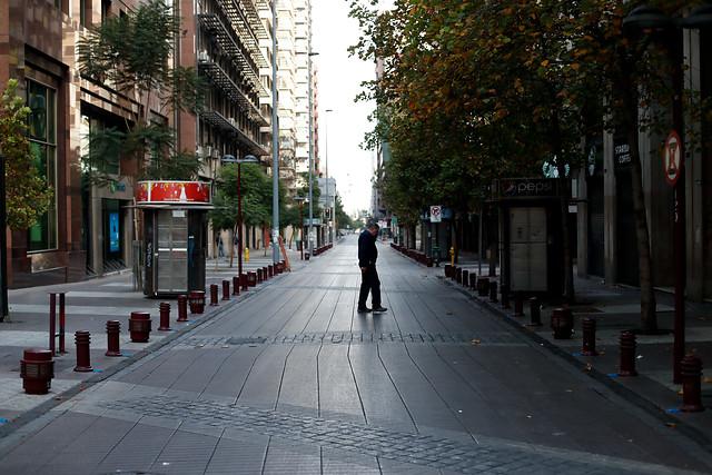 Nueve fotografías que muestran las calles de Santiago durante el Censo 2017