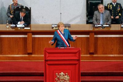 Ex Presidentes se excusaron de asistir a última Cuenta Pública de Michelle Bachelet
