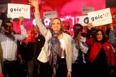 """Carolina Goic oficializó su candidatura presidencial: """"Los DC nunca votaremos por Piñera"""""""
