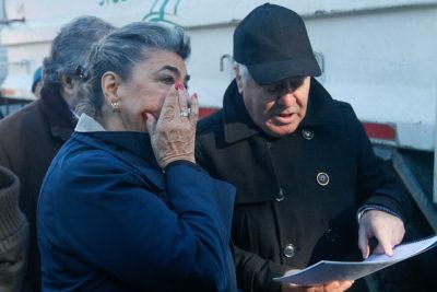 FOTOS + VIDEO |El rostro de la alcaldesa de Viña al ver el Reloj de Flores destruido