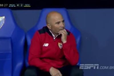 VIDEO | Del terror: cámara siguió los 90 minutos a Sampaoli en su última derrota
