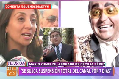 """Cecilia Pérez busca que Canal 13 """"suspenda sus transmisiones"""" por siete días tras rutina de Alcaíno"""