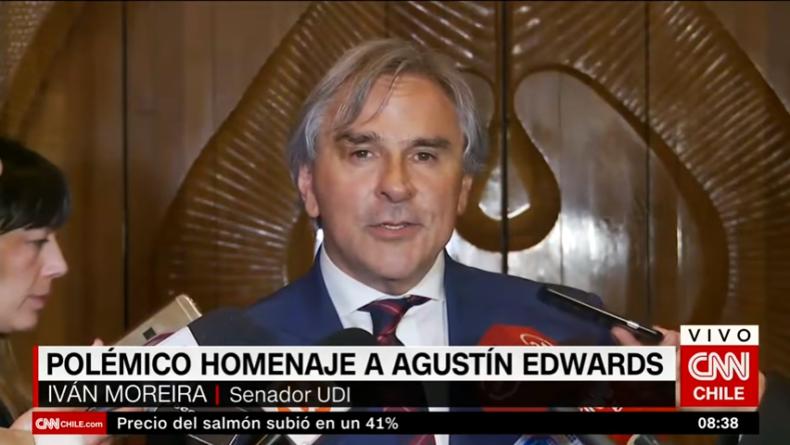 VIDEO | Las frases más virulentas de Moreira contra Boric por funar el homenaje a Edwards