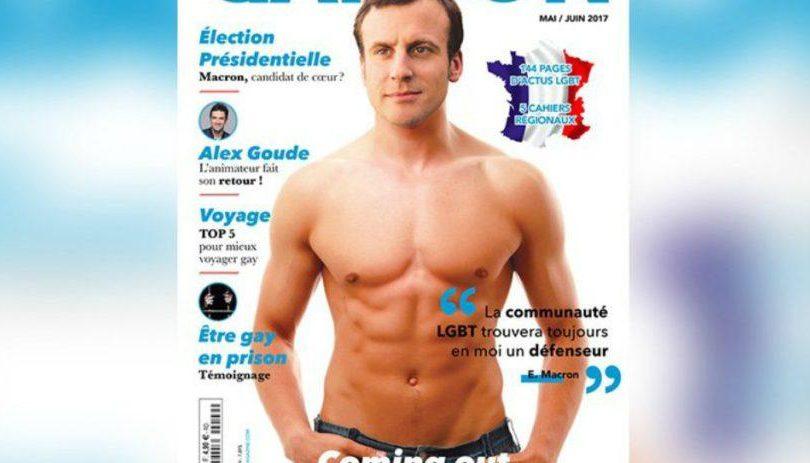 FOTO   Emmanuel Macron aparece desnudo en portada de revista LGBT y genera revuelo en Francia