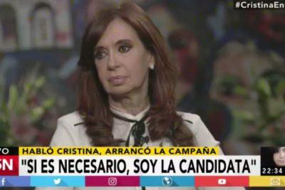 """Cristina Fernández vuelve a mirar la Casa Rosada: """"Si es necesario que sea candidata, lo soy"""""""