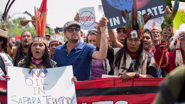 VIDEO |Leonardo DiCaprio marcha en contra del cambio climático y Donald Trump