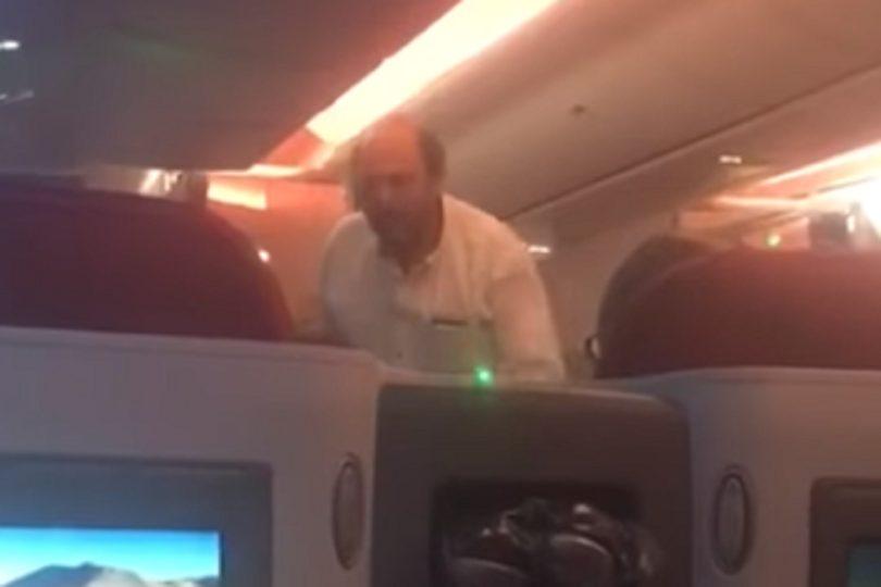 De gritarle a Girardi a portada de diarios: la historia del empresario que encaró al senador en un avión