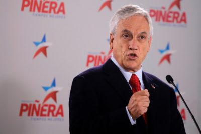 """Sebastián Piñera: """"La Nueva Mayoría está acostumbrada a vivir con la calefacción del Estado"""""""