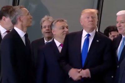 VIDEO | Otra vez Trump: Le dio feo empujón al primer ministro de Montenegro