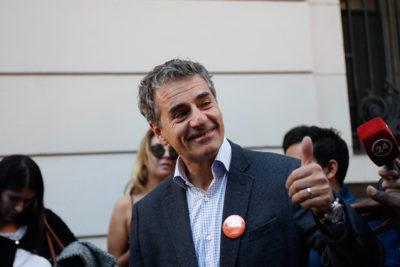 La efusiva celebración de Andrés Velasco luego que Ciudadanos sea reconocido como partido nacional
