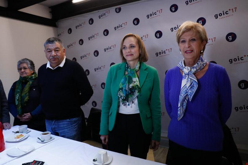 """Marta Larraechea se suma al comando de Carolina Goic: """"Es joven, regia y habla de corrido"""""""