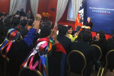 Bachelet pide perdón al pueblo mapuche y anuncia 10 medidas