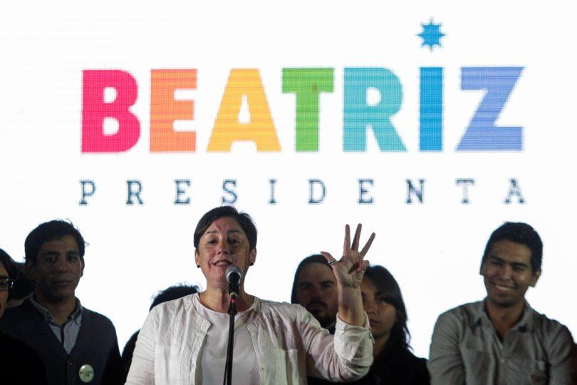 """Beatriz Sánchez celebra la CEP: """"¡Vamos con todo a segunda vuelta!"""""""