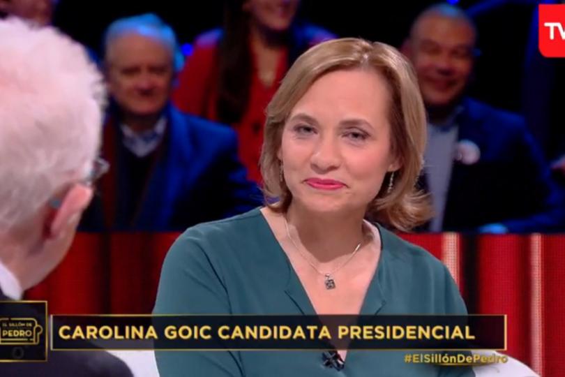 Veinte frases de Carolina Goic tras su comentada participación en El Sillón de Pedro