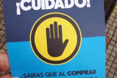 FOTO   Por la compra de un pancito jamón queso en Santiago, lleva gratis esta amenaza de la municipalidad