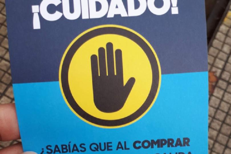 FOTO | Por la compra de un pancito jamón queso en Santiago, lleva gratis esta amenaza de la municipalidad